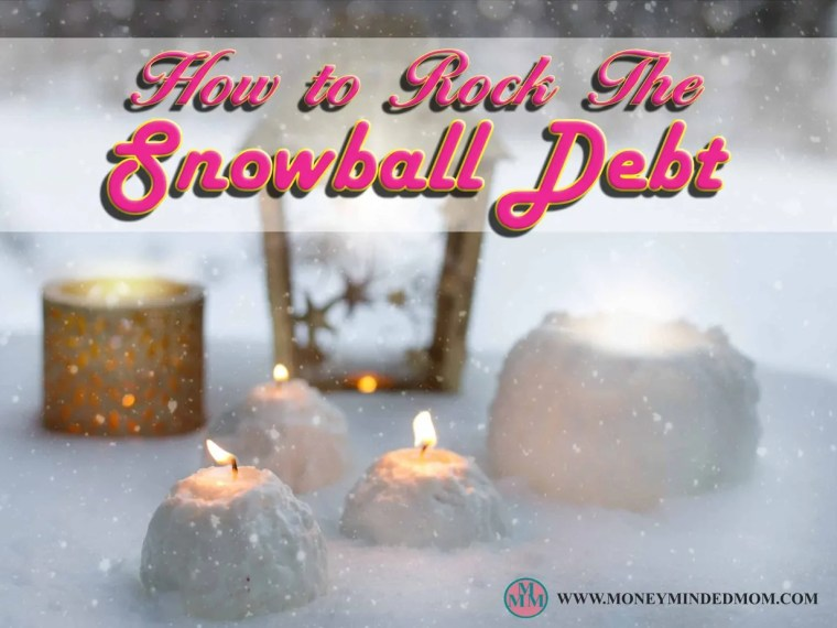 How to Rock the Debt Snowball ~ Being in debt is one of the worst situations you can be in. It takes a toll on a person's life with all the sleepless nights, strained relationships, and being stressed out. Your feeling helpless, constantly trying to figure out how you are going to pay the bills, it never leaves your mind. Here is how to use the debt snowball to get rid of your debt
