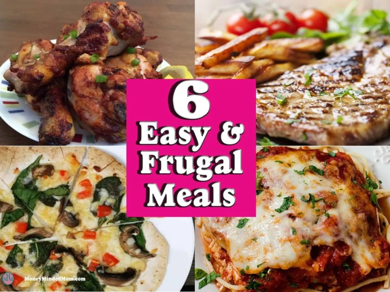 Cheap Meals ~ Easy & Frugal Meal Recipes ~ These 6 easy and frugal meal recipes are sure to save money and stress on those busy day. Click through to check them out. Frugal Meals | Easy Recipes | Quick Dinners | Cheap Dinner Recipes | Meal Planning | Saving Money on Groceries