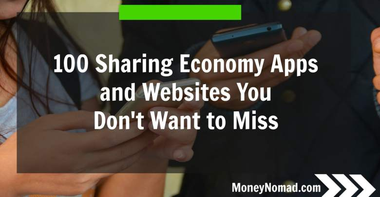 "Image showing the title of the post ""100 Sharing Economy Apps and Websites You Don't Want to Miss"""