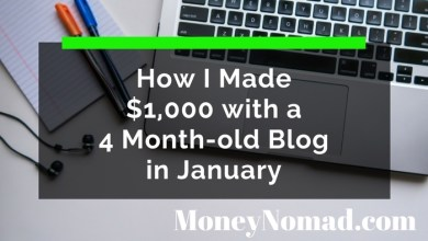 Photo of How I Made $1,000 with a 4 Month-old Blog in January