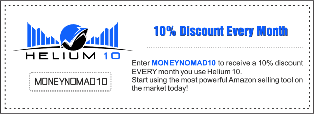 Coupon for 10% off Helium 10