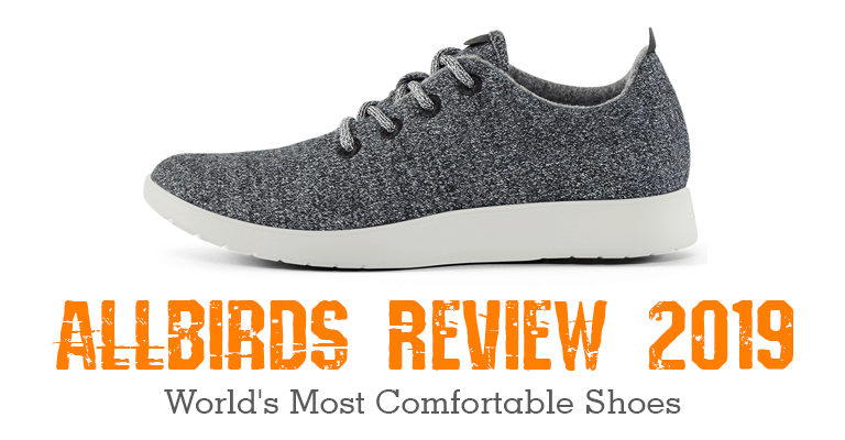 c848a8cce541 shows an allbird shoe and Allbirds review text in orange
