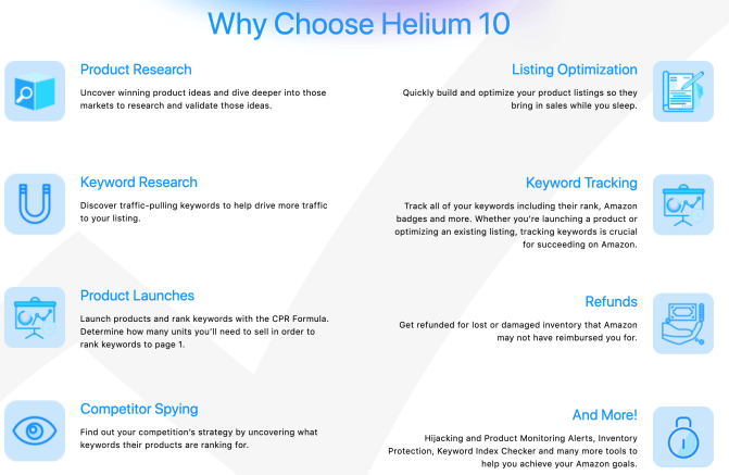 List of Why To Choose Helium 10