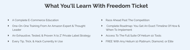 Benefits of using freedom ticket