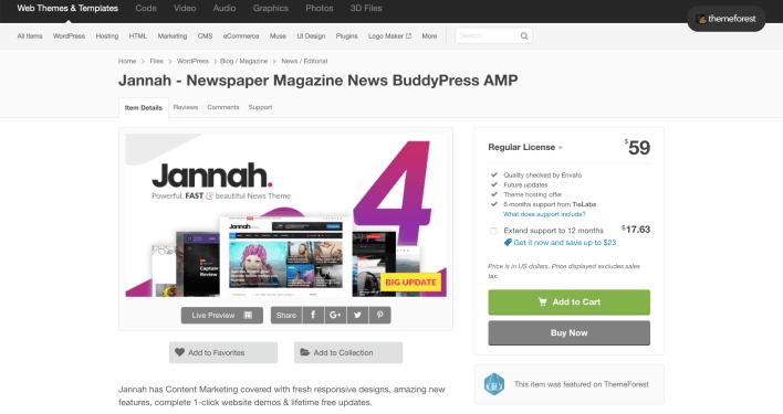 WordPress Theme Jannah