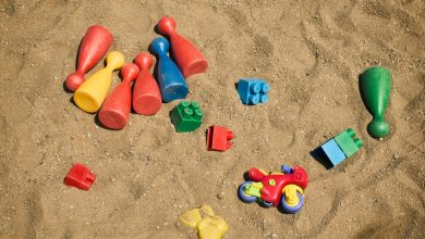 Sandbox with Plastic Toys