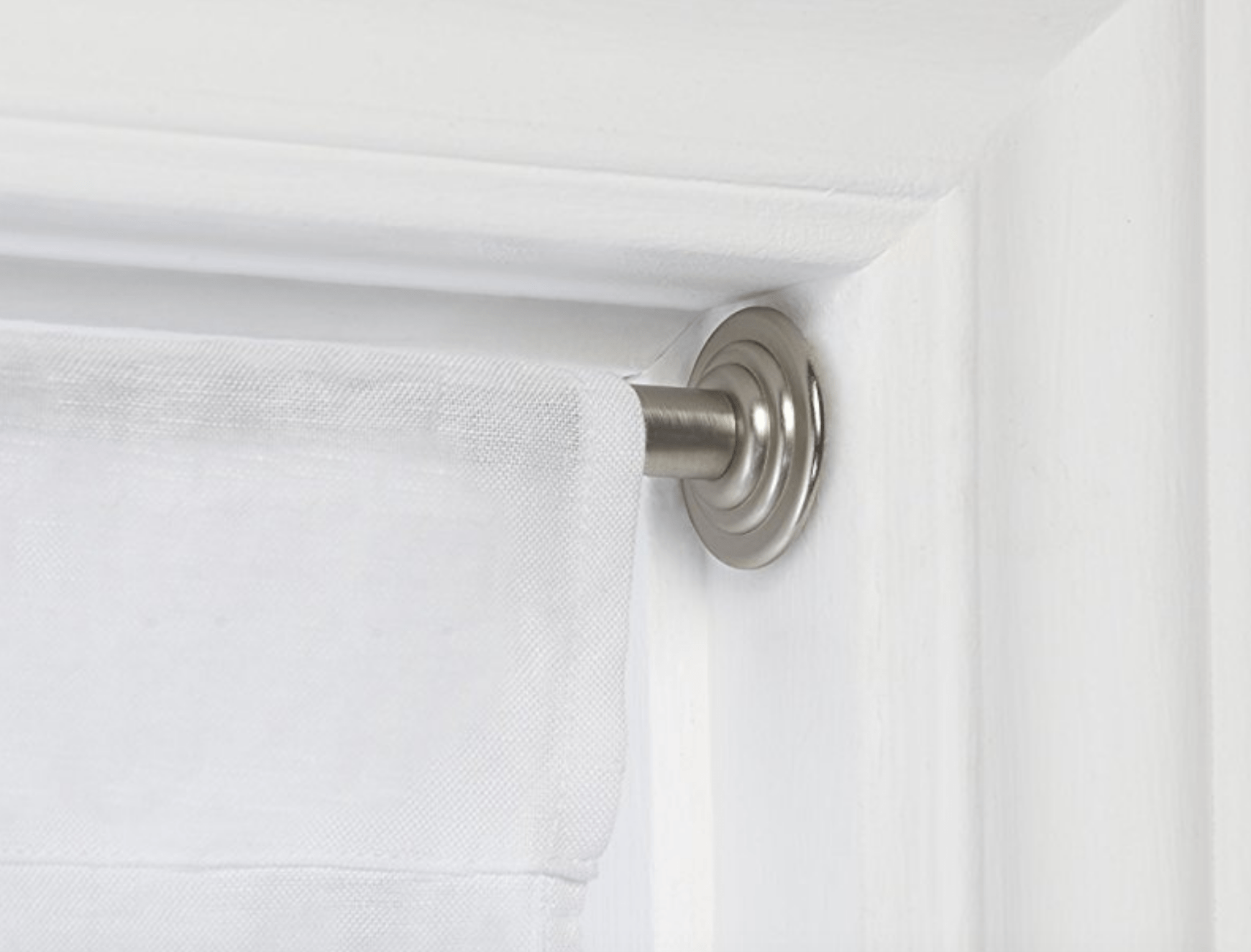 curtain rods hang them without