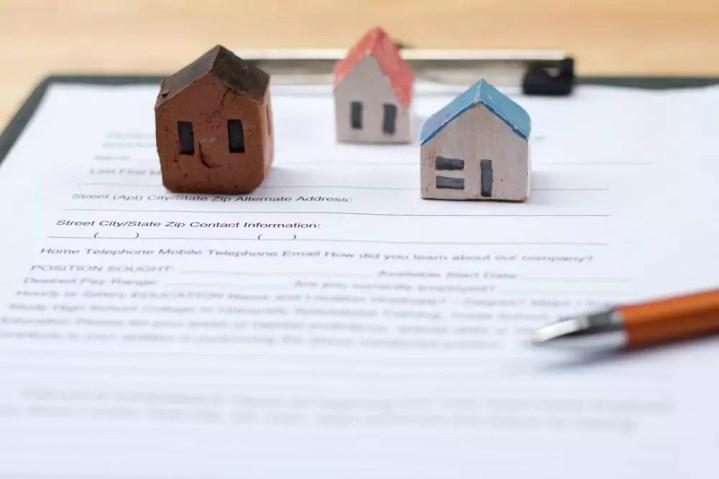 Tiny house on insurance document