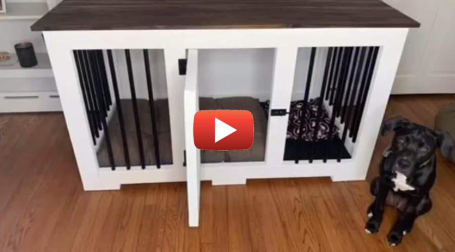 DIY Dog Table Crate
