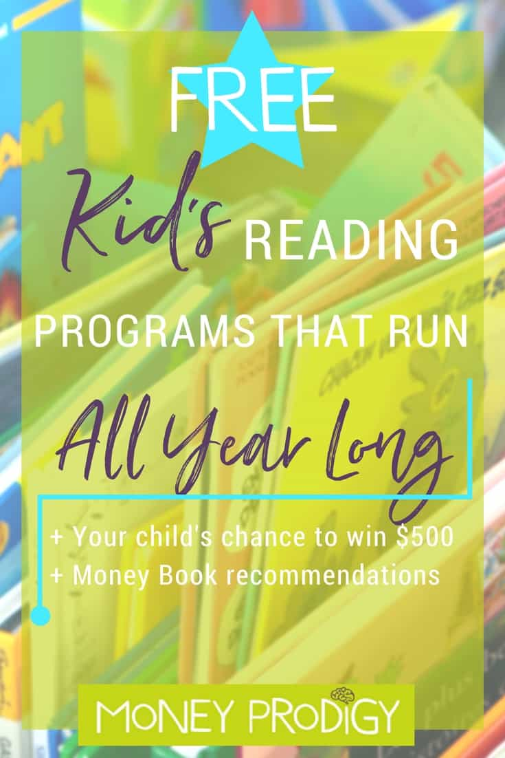 Reading programs for kids that run all year round. Teachers, let your student and their parents know about these! Plus money book suggestions for what to read using these programs. | https://www.moneyprodigy.com/reading-programs-for-kids-year-round/