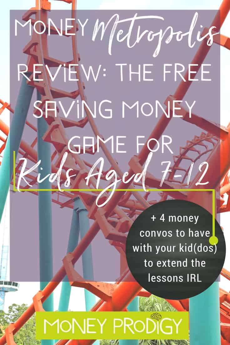 Fun money games for kids (even 2nd graders) that you can get for free? Here's my review of Money Metropolis, plus how to score yours for free (yes, without paying S&H). Definitely include this in your list of learning activities when teaching your kid(dos) about money (psst: includes 4 money convos to have with your child to extend these lessons into real life!) | http://www.moneyprodigy.com/money-metropolis-review-saving-money-game-kids/