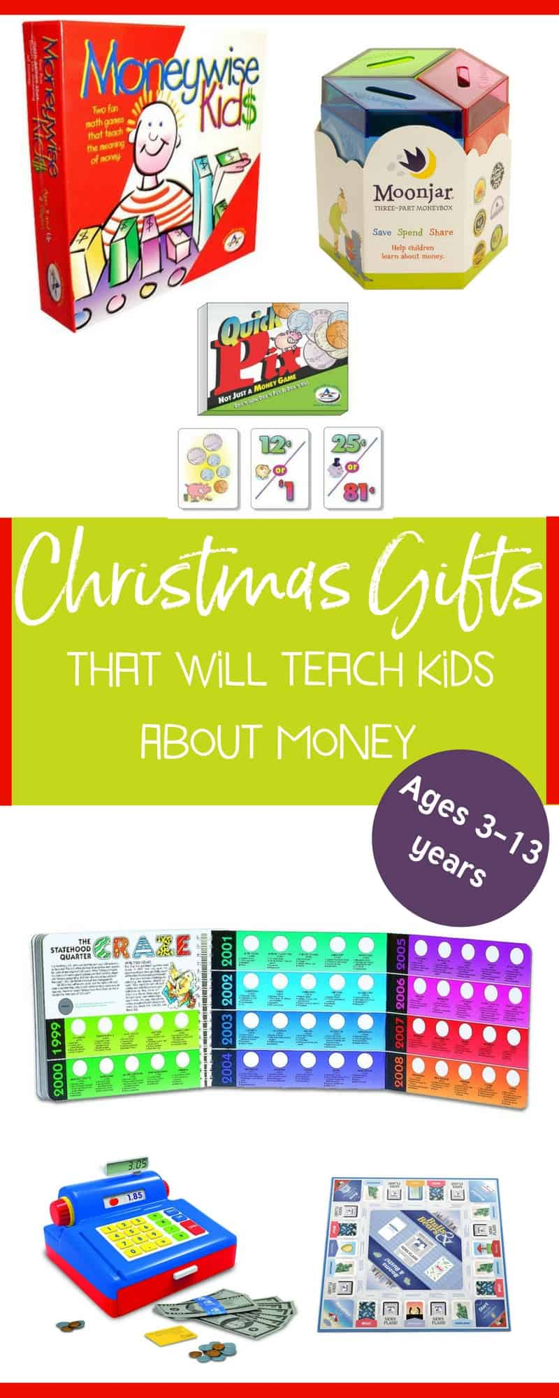 I love these educational toys for kids! Great ideas for holiday gifts. #educationaltoysforkids #educationaltoys #kids #christmasgiftsforkids | https://www.moneyprodigy.com/9-money-educational-toys-for-kids/