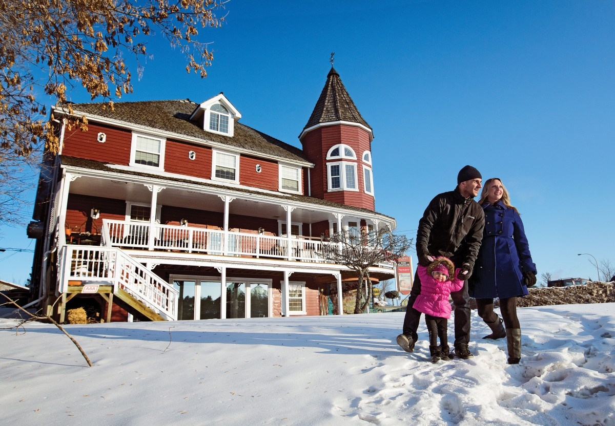 (Jason Franson for MoneySense) St. Albert caters to young families like Brandi and Quentin Siffledeen, and their daughter Brielle, with events like the International Children's Festival.
