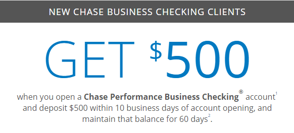 Chase 500 coupon for checking savings business accounts chase 500 bonus for business checking reheart Images