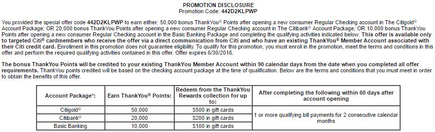 Up To 50,000 ThankYou Points Bonus