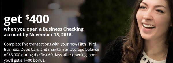 Fifth Third Bank Business Checking Bonus