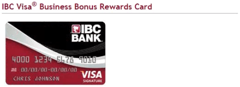 IBC Visa Business Bonus Rewards Card