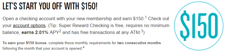 Provident Credit Union $150 Checking Bonus