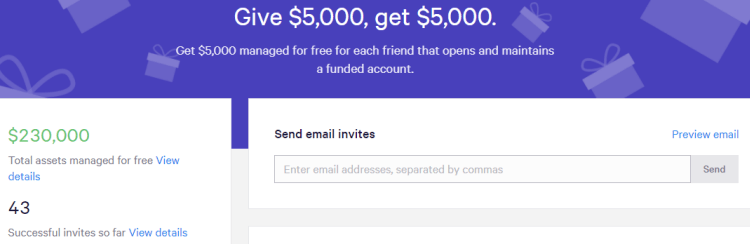 Wealthfront $5000 Per Referral Offer