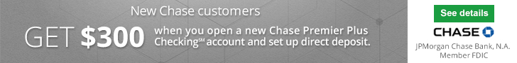 Chase Premier Plus Checking $300 Bonus 2