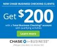 Chase Total Business Checking $200 Bonus