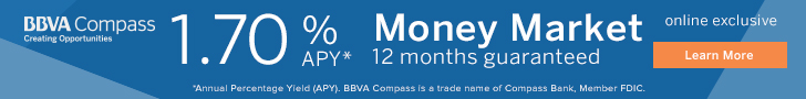 BBVA Compass Money Market 1.70 Offer