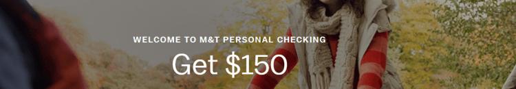 MT Bank $150 Checking Bonus 2018