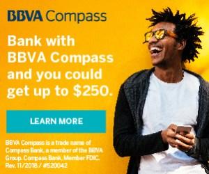 BBVA Compass $250 Bonus