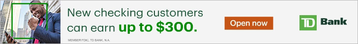 TD Bank $300 Checking Account Bonus