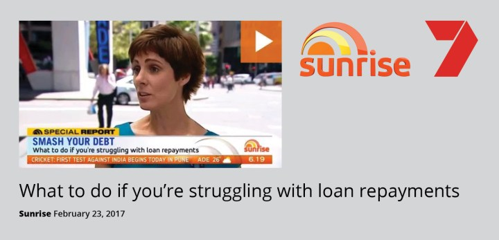 Heidi helps Australians struggling with loan repayments on channel 7's Sunrise