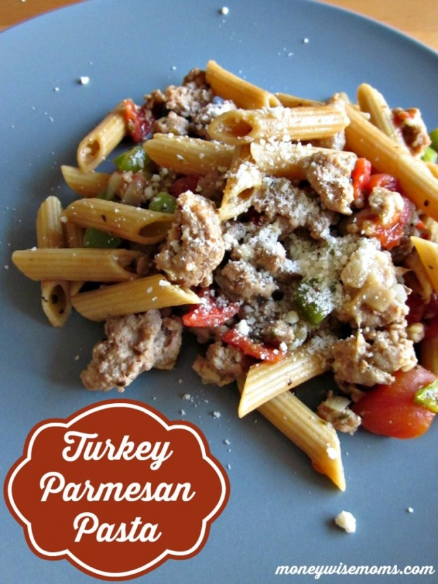 Turkey Parmesan Pasta | Easy stovetop #recipe for family dinner | MoneywiseMoms