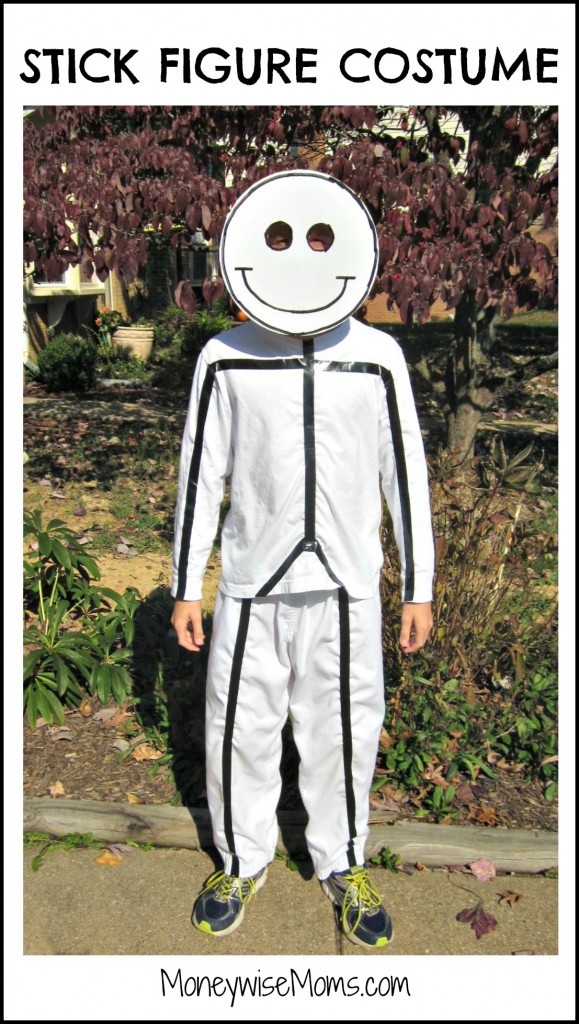 Stick Figure Costume for Halloween | MoneywiseMoms