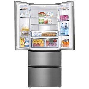 Candy CCMN 7182 IXS frigo américain - frigos américains (Autonome, Noir, Porte française, A+, LED, SN, N, ST, T)