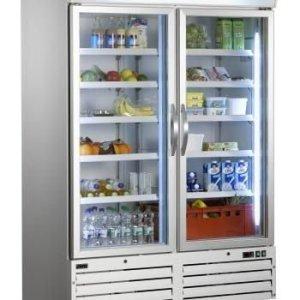 Armoire réfrigérée ventilée 2 portes cristal G920 - 1078L - SARO