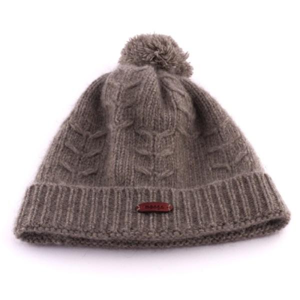 Mütze aus Yakwolle in Grau von mongs®