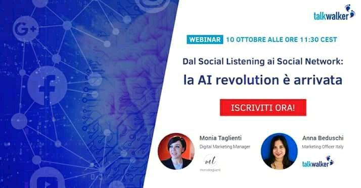 Webinar Talkwalker AI, social listening e social network