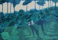 """I djungeln"" Olja, 45x65 cm"