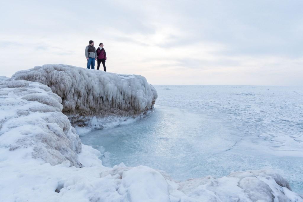 Michigan shelf ice