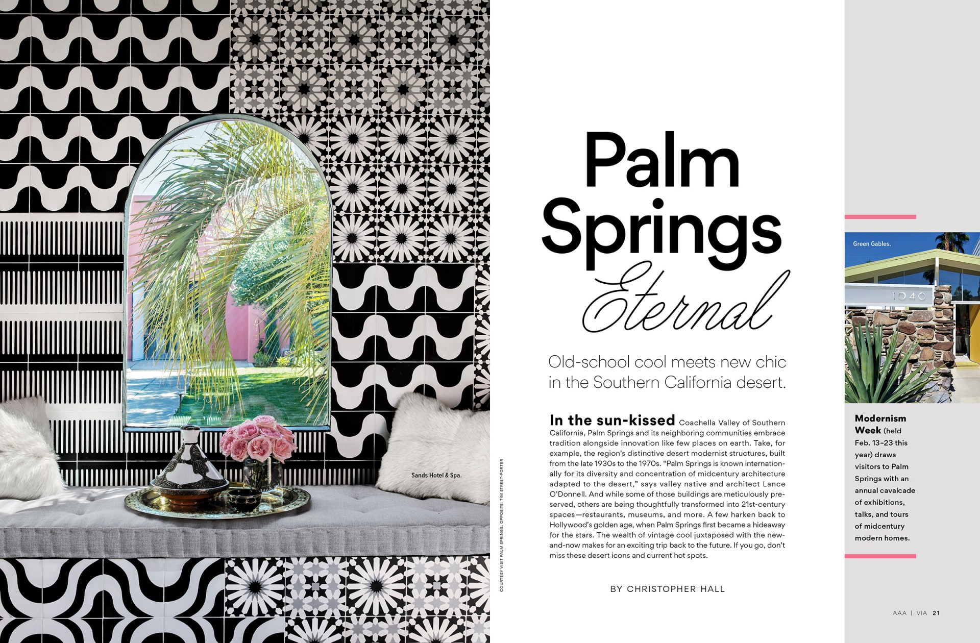 Palm Springs feature spread