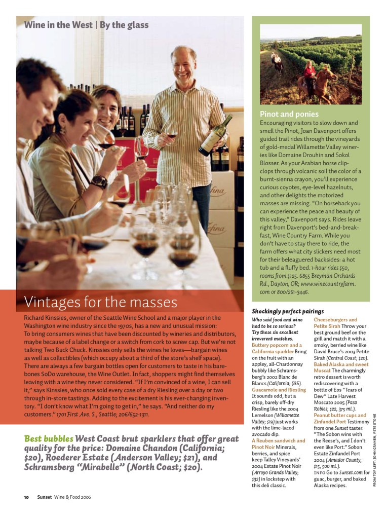Wine in the West page