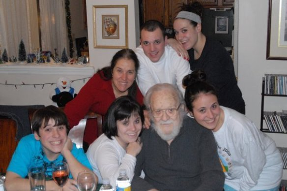 All of us with my grandpa & my mom