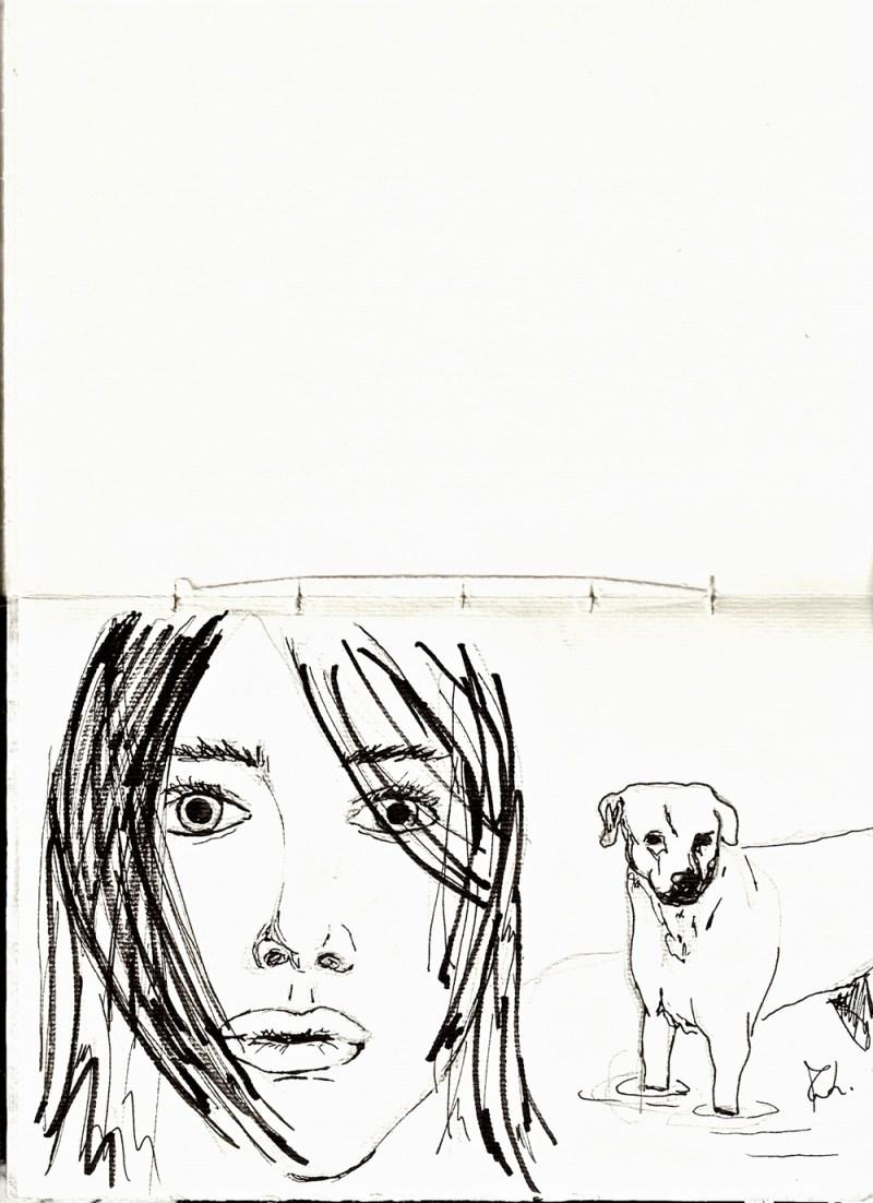 Sketchbook | Monica Lerda | ragazza-con-cane
