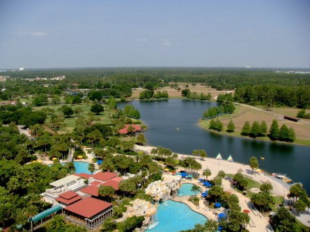 Hyatt Regency Orlando, vista do quarto
