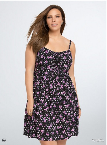 Torrid Disney Mickey Collection Floral Lace Up Sundress
