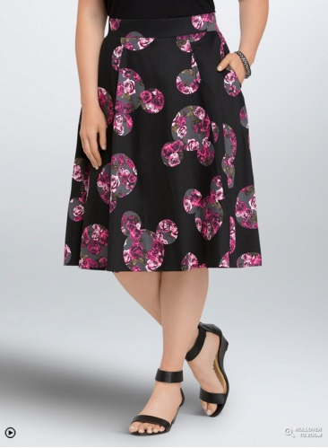 Torrid Disney Mickey Collection Floral Swing Skirt
