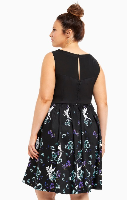 Disney Tinkerbell Collection Floral Swing Dress Back