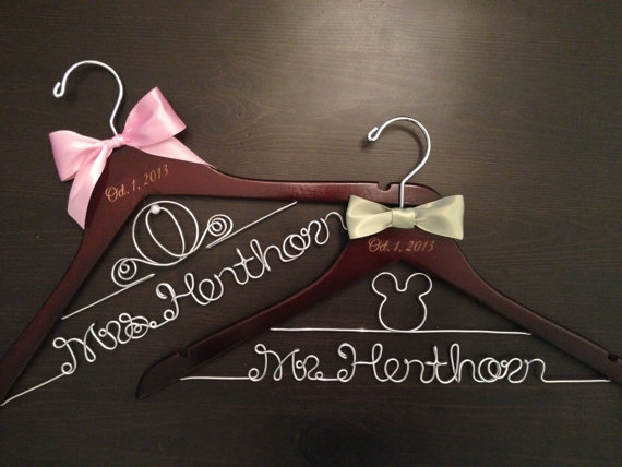 Disney Wedding Hangers