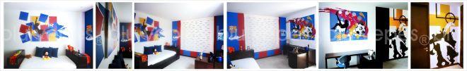Soccer Room Wall Design - Final Painting - Monica Yepes - NYC Children´s Murals- Kids Muralist NYC