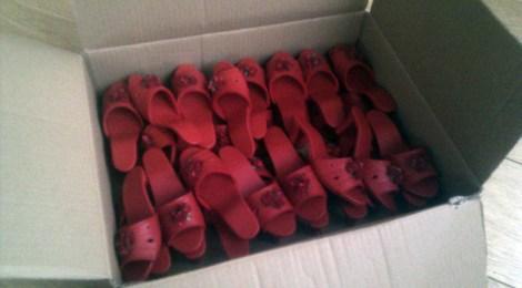 Rode schoenen, zij wel!