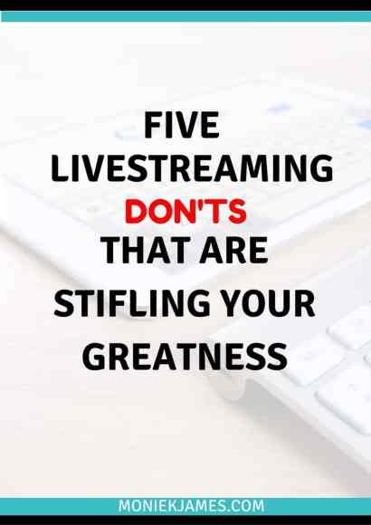 five-livestreaming-donts